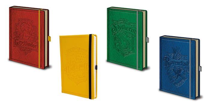 hogwarts house notebook