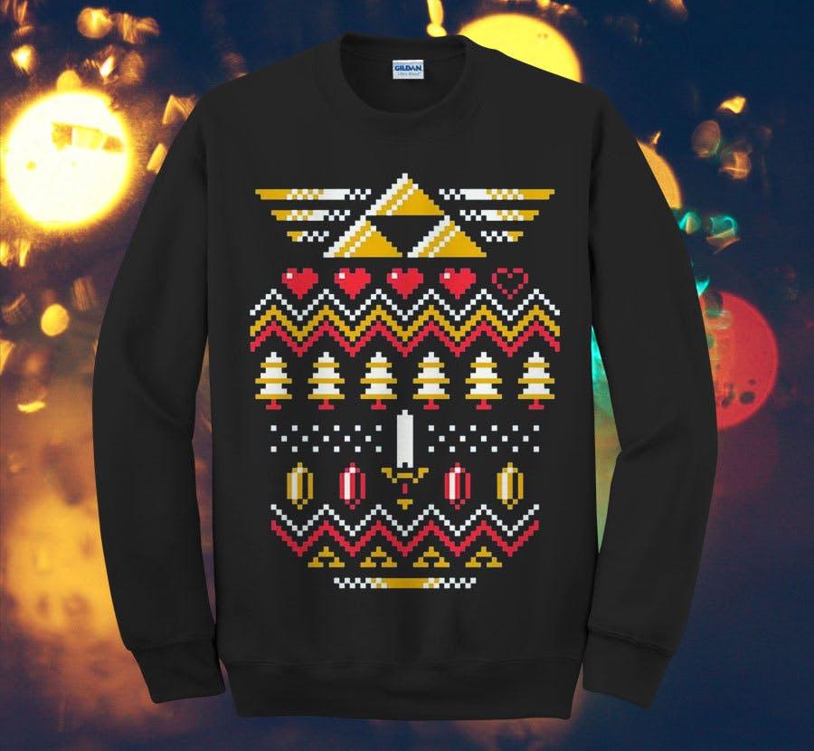 Zelda Art Christmas Design Sweater, $29+.