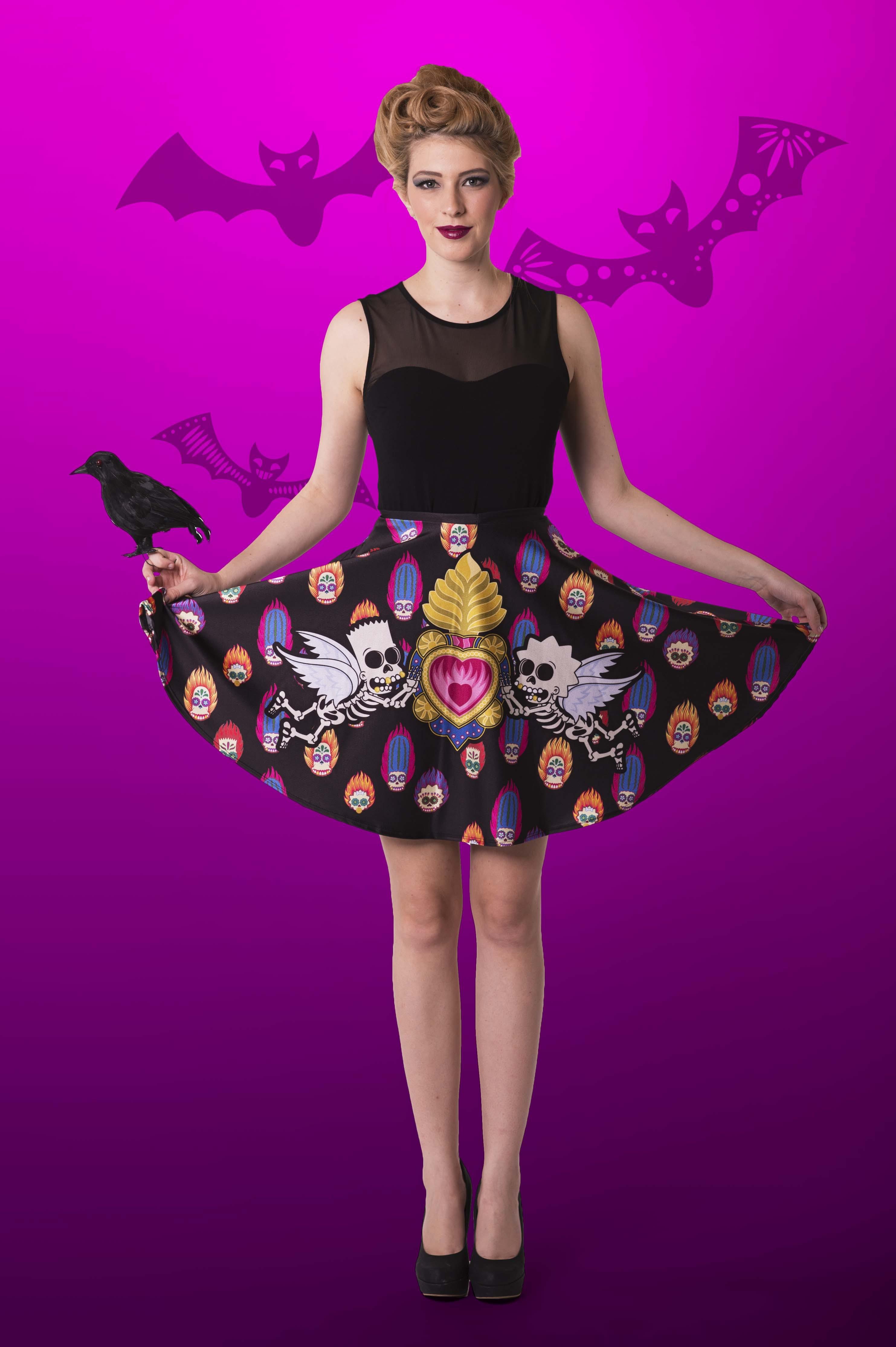 Day Of The Dead Pocket Skater Skirt