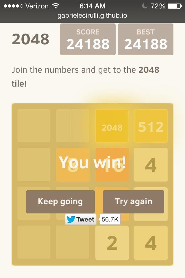 2048 winning strategy