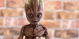 Guardians of the Galaxy Groot made of chocolate