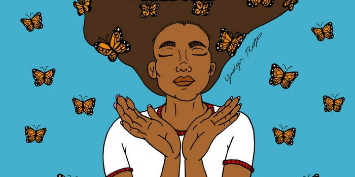 An illustration by Yocelyn Riojas titled 'My Dreams Are Not Illegal'