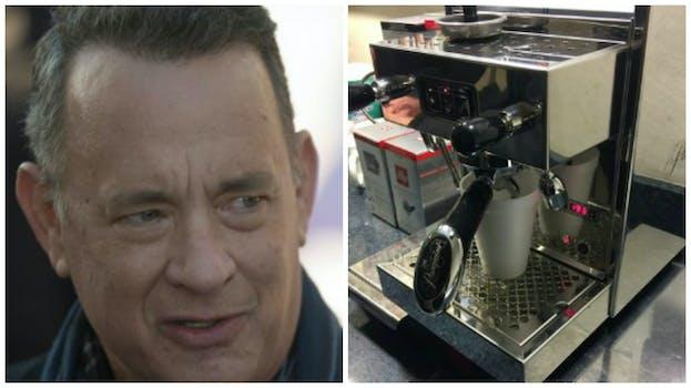 tom hanks espresso machine white house press corps