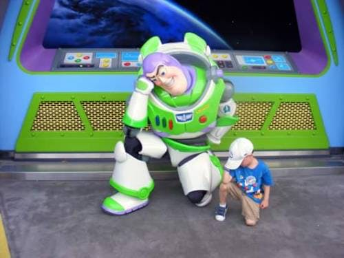 Buzz Lightyear Tebowing