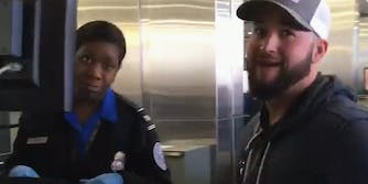 TSA worker and pranked son react to hidden sex toy in luggage