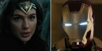 marvel vs dc : wonder woman and iron man