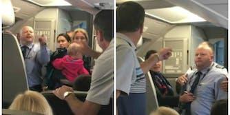 American Airlines argument stroller