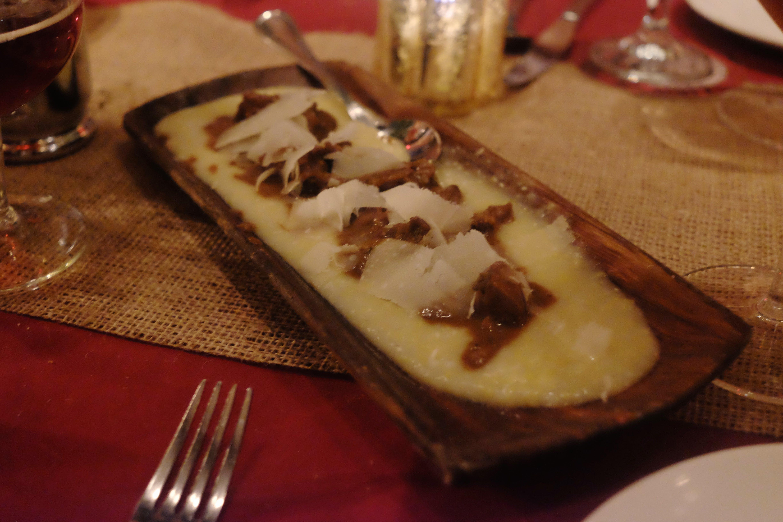 Braised wild boar polenta, inspired by House Lannister