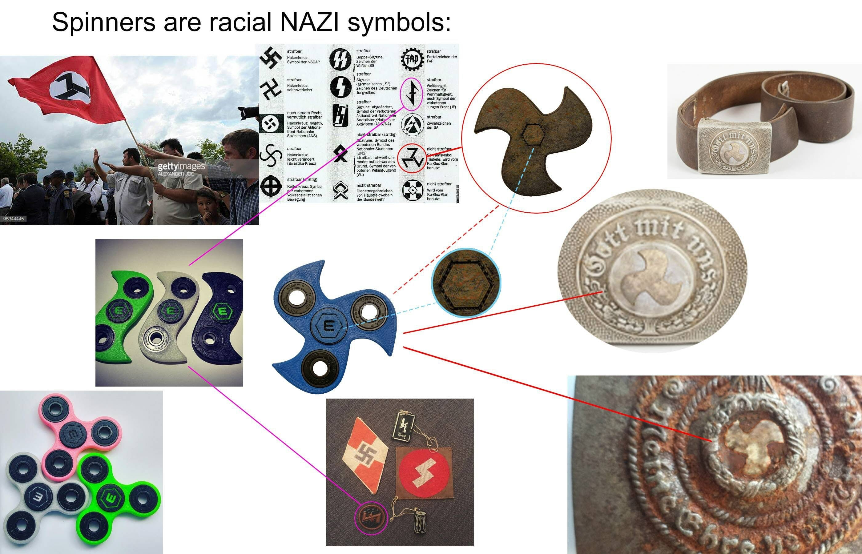 fidget spinner swastika memes