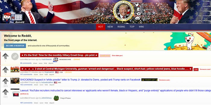 Trolls from Russia intent on spreading misinformation during the 2016 election put content on the r/The_Donald and Tumblr, according to a new report.