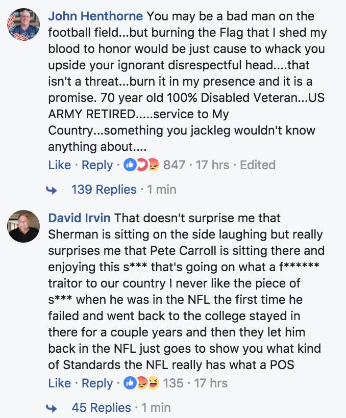 Vets for Trump comments