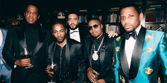 Jay Z, Kendrick Lamar, French Montana, Nas and Fabulous