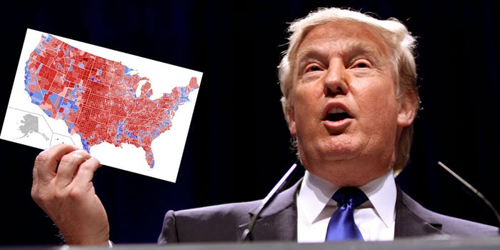 Donald Trump Holding 2016 Electoral Map