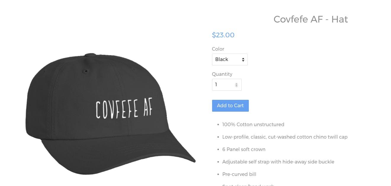 covfefe hat dog rates