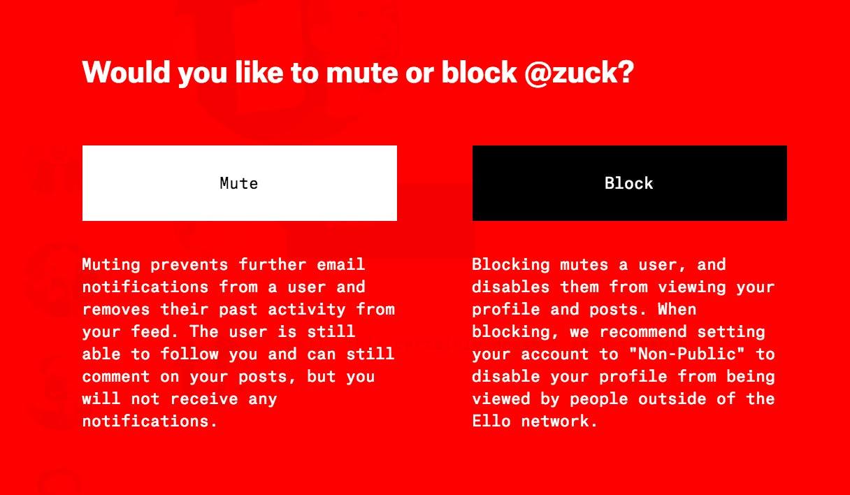 Ello blocking