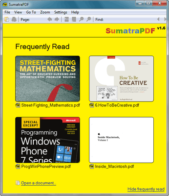 free pdf reader : Sumatra