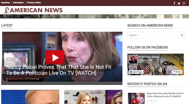 fake news site : american news
