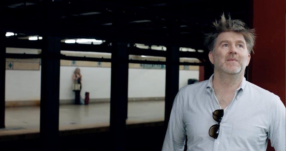 James Murphy in subway