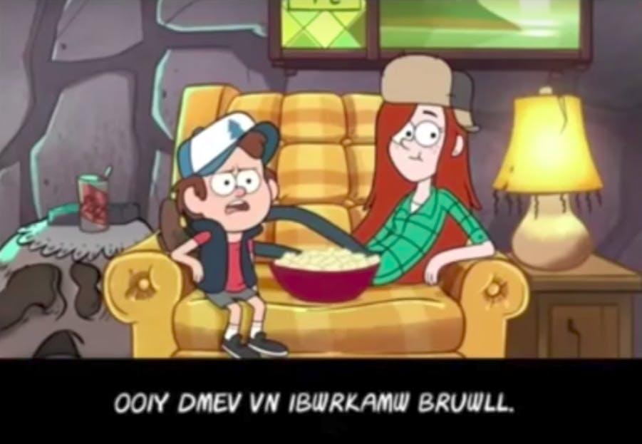 Gravity Falls cryptogram