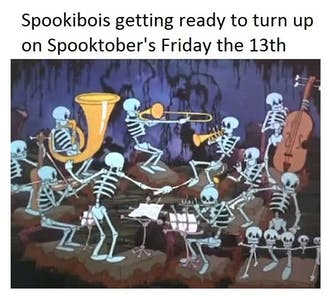 Friday spooktober 13th spooky meme