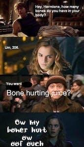 harry potter bone hurting juice meme