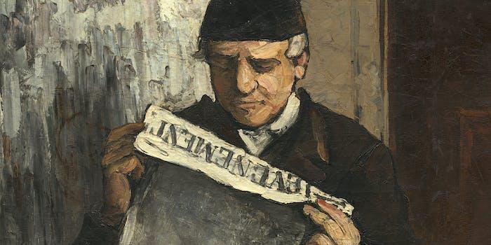 """The Artist's Father, Reading """"L'Événement"""", Paul Cézanne, 1866"""