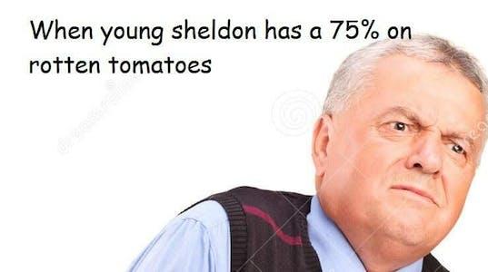 young sheldon rotten tomatoes meme