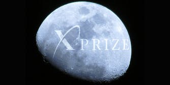 Moon with Xprize logo