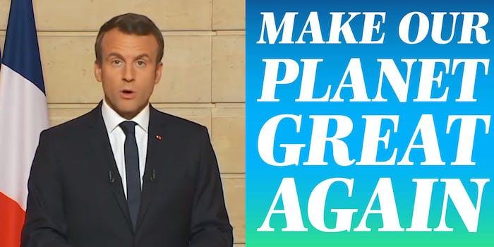 Emmanuel Macron Facebook photos