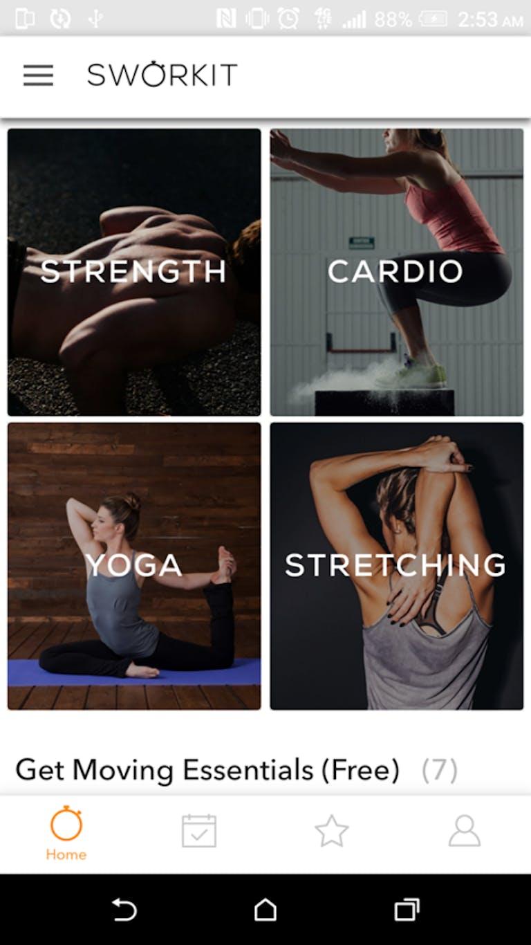 best free fitness apps : sworkit