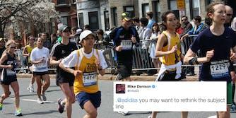 Runners from Boston Marathon 2013.