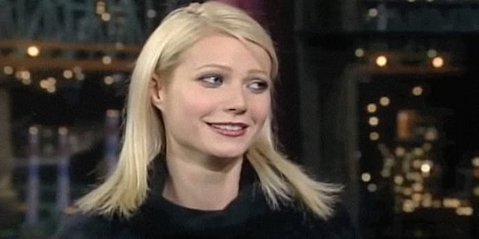 Gwyneth Paltrow on Late Night with David Letterman
