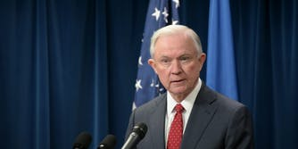 Attorney General Jeff Sessions delivers remarks.