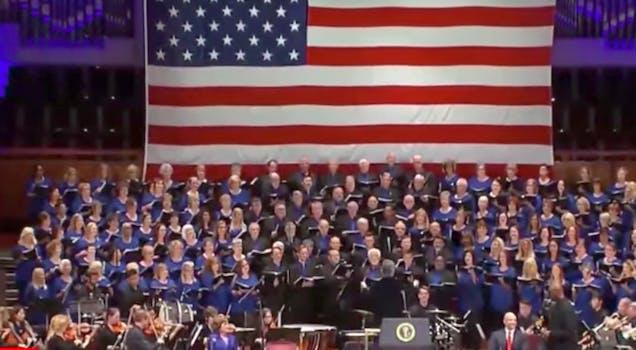 trump church choir