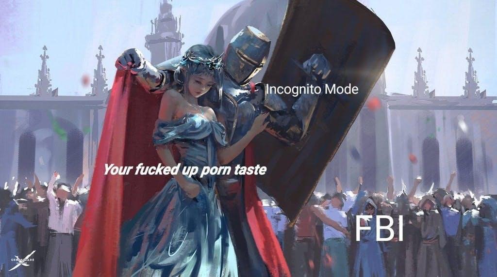 fbi porn knight princess meme