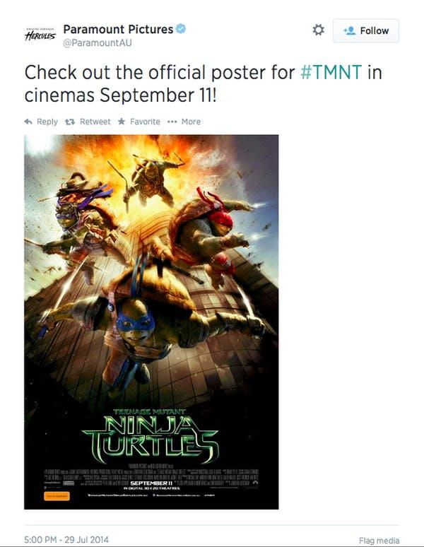 Teenage Mutant Ninja Turtles 9/11 poster