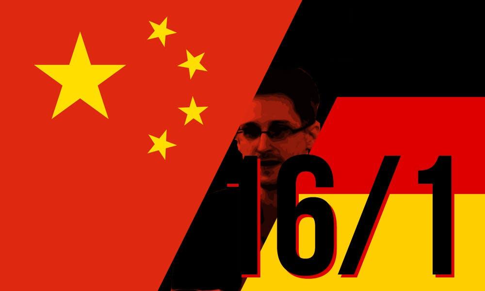 Edward Snowden: German China