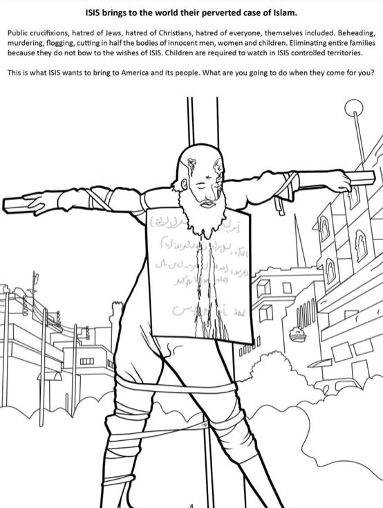 ISIS kids coloring book page