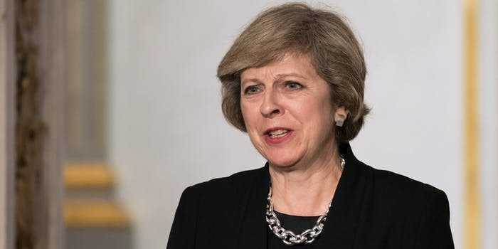 British Prime Minister Theresa May Speaking in France