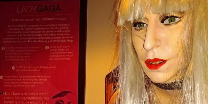 Lady Gaga wax museum