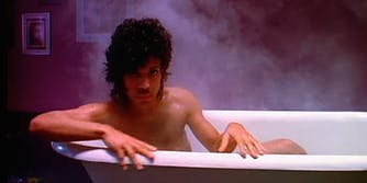 Prince in bathtub, When Doves Cry video
