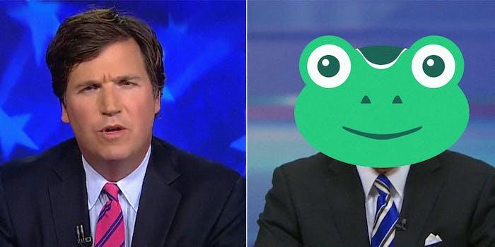Tucker Carlson and the Gab frog
