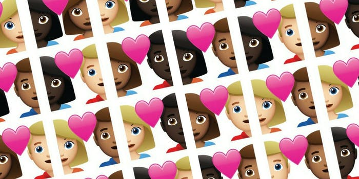 Tinder has proposed an official emoji selection of interracial couples to Unicode.