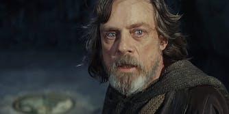 Frightened Luke Skywalker from Star Wars: The Last Jedi