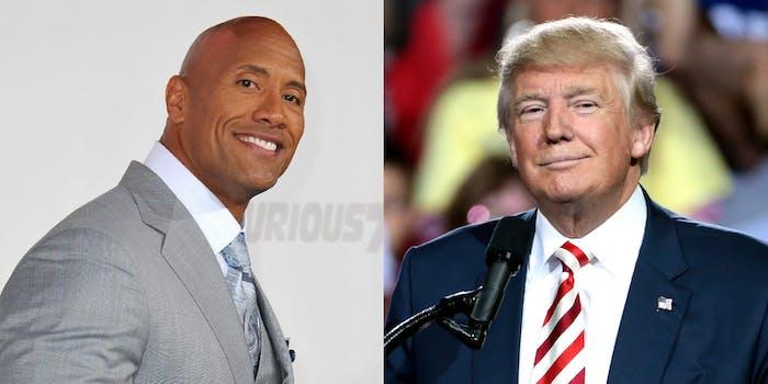Dwayne The Rock Johnson and Donald Trump