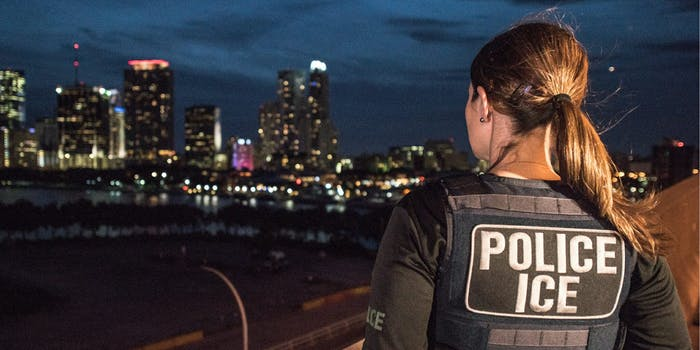 An Immigration and Customs Enforcement agent in Miami.