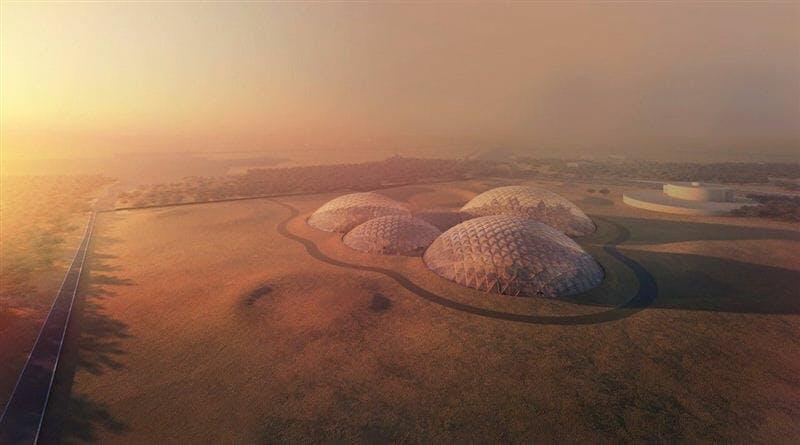 dubai mars colony concept city domes