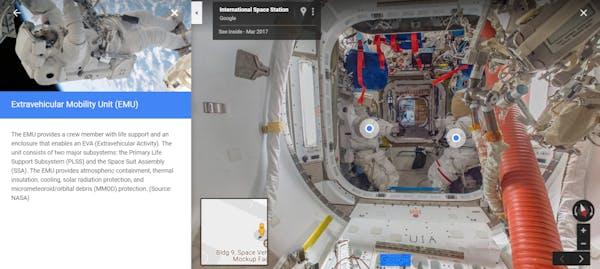 international space station google street view maps
