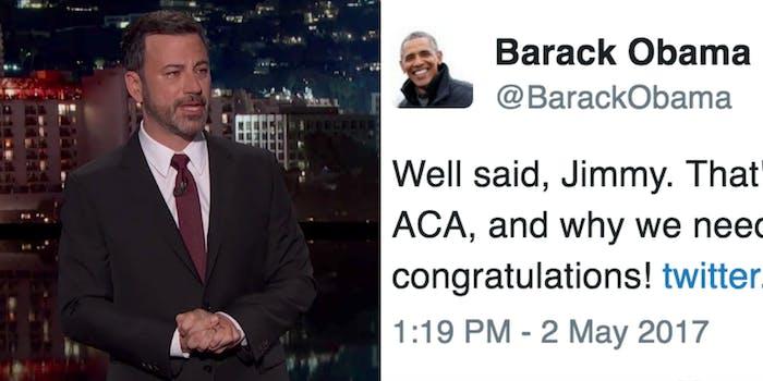 Jimmy Kimmel and Obama Tweet