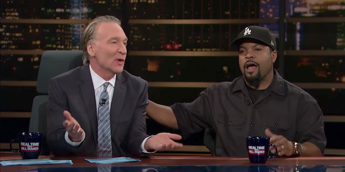 Ice Cube and Bill Maher